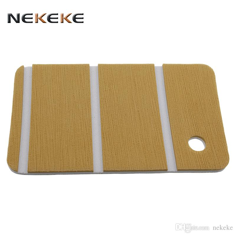 nekeke gold eva foam decking sheet high density marine boat composite  decking from China