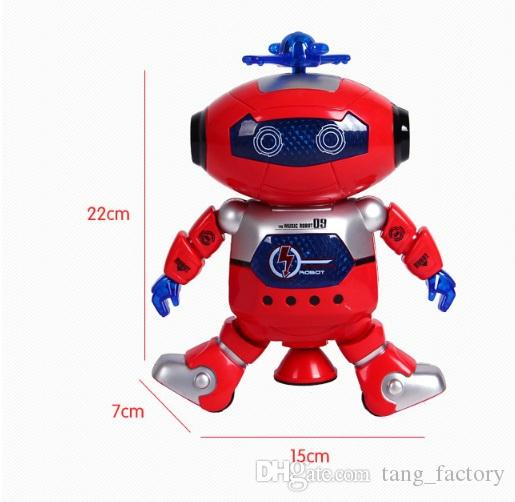 New toys Dancing Robert Electronic Toys With Music And Lightening Best Gift For Kids Model Toy Fast ship out