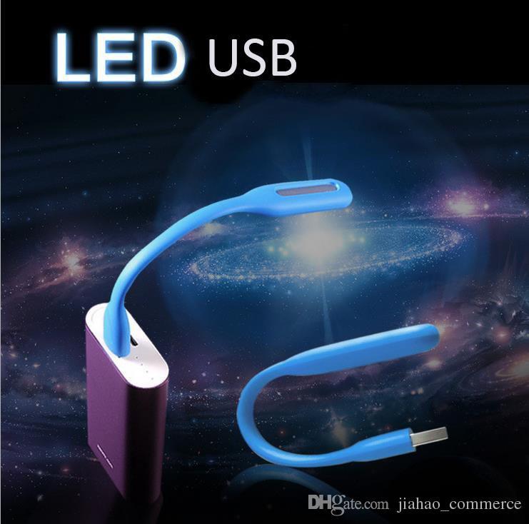 500 adet Esnek Taşınabilir USB LED Işık Lamba Bilgisayar Için Akıllı Telefon Android telefon Cep Telefonu Perakende Paketi Olmadan