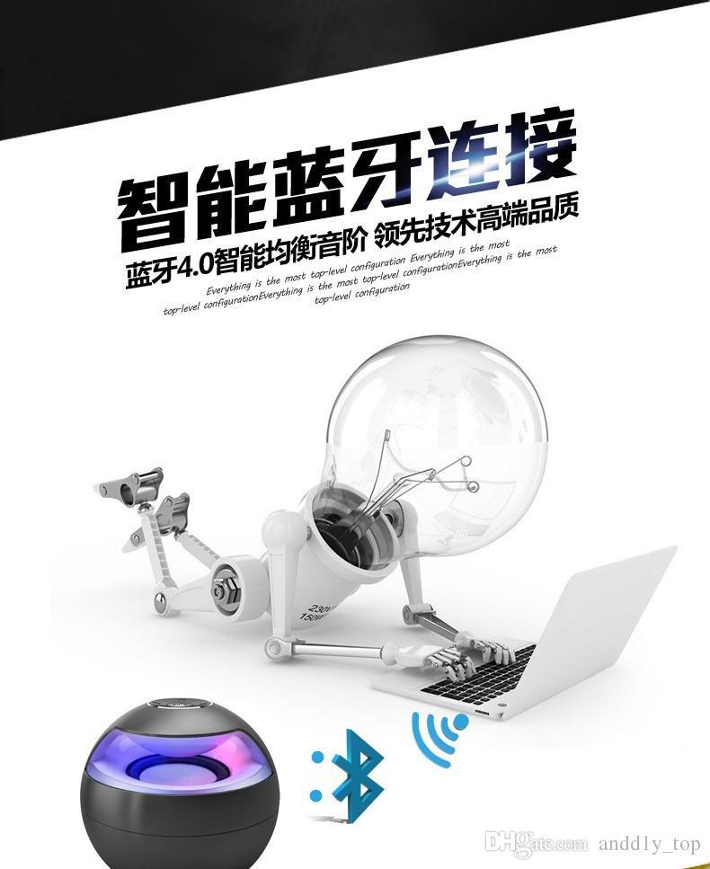 AJ-69 Mini Active Bluetooth Stereo Speakers mini speaker bluetooth speaker With Micphone LED Light loudspeaker surround sound With retail s8