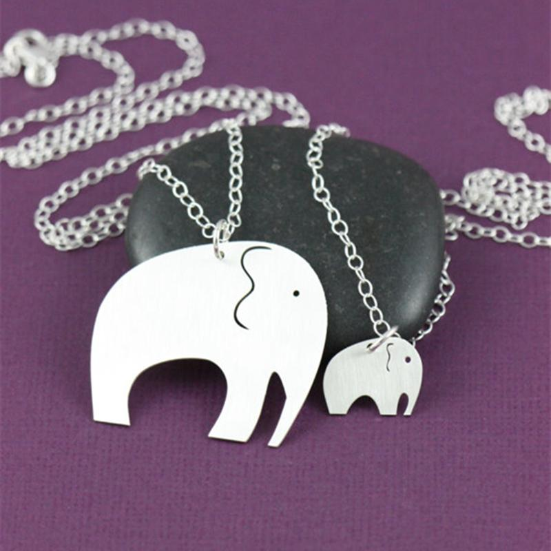 Mother daughter necklaces elephant necklace mother child mom baby cheap wholesale slider necklace wholesale 32 inch necklace aloadofball Images