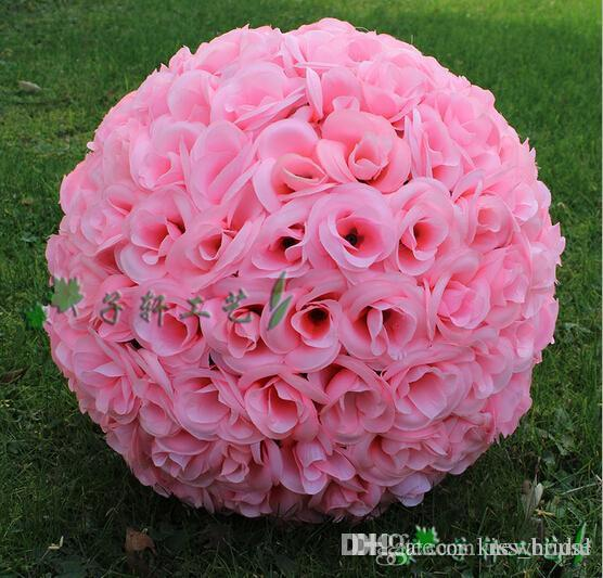 Online cheap hot sale beach theme pink artificial silk flower ball online cheap hot sale beach theme pink artificial silk flower ball hanging kissing balls 15 cm to 60cm ball for wedding party decoration supplies by mightylinksfo