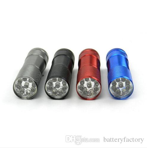 وصول جديد، 9 LED مصغرة الشعلة البسيطة LED مصباح يدوي 300LM الأشعة فوق البنفسجية LED التخييم مصباح يدوي الشعلة للماء مصباح المشاعل مصباح أسود