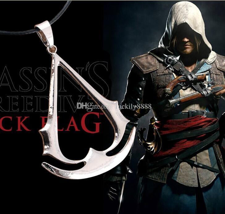 Darmowe Hot 12 sztuk / partia gry Assassins Creed Cosplay Naszyjnik Wisiorek Rozszerzenia gry Biżuteria