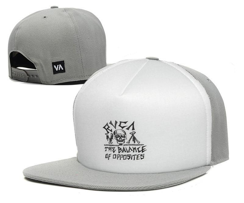 478d51c36e1 New Arrival RVCA Snapback Hats White Black Grey Fashion Adjustable Caps 8  Styles Men And Women Sports Hat La Cap Flexfit Cap From Bigchinaseller