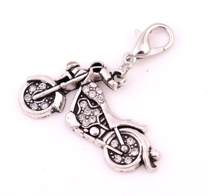 Gratis verzending antiek zilver 10 stks veel mode fiets driewieler motorfiets sieraden charme