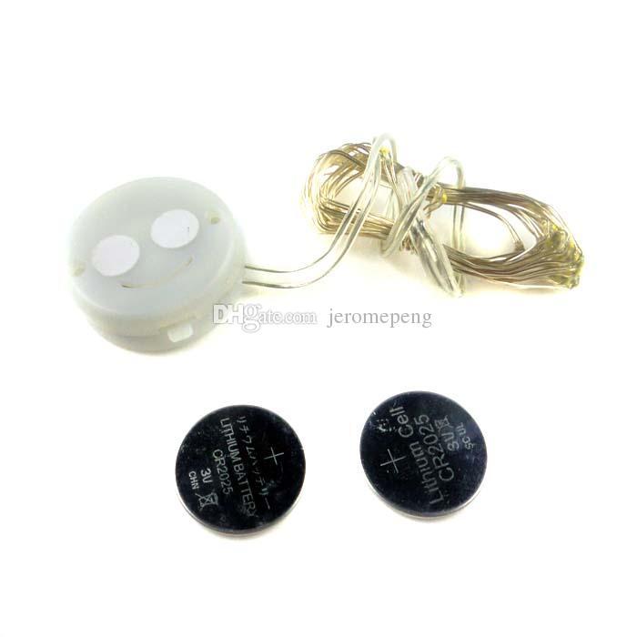 Pil Mini LED Bakır Tel dize ışık ile düğme hücre Peri Parti Düğün Noel Yanıp Sönen LED şerit