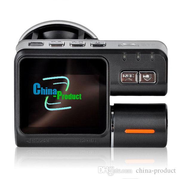 I1000 Voiture DVR Double Caméra Double Objectif Caméscope HD 720 P Dash Cam Boîte Noire Avec Arrière 2 Cam Véhicule Voir Tableau De Bord 002780