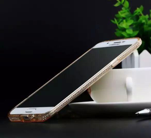 neue Ankunft für Samsung J1 / J5 / J7 / A5 / A7 nehmen dünne tpu Diamant-Telefonoberteilrand S6edge plus Eis bohren S6 Handy-Sätze Schutzhülle