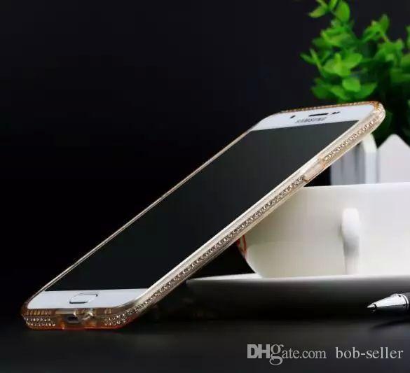 nueva llegada para Samsung J1 / J5 / J7 / A5 / A7 adelgace el borde de la cáscara del teléfono del diamante S6edge más la perforación de hielo S6 El teléfono móvil fija la funda protectora