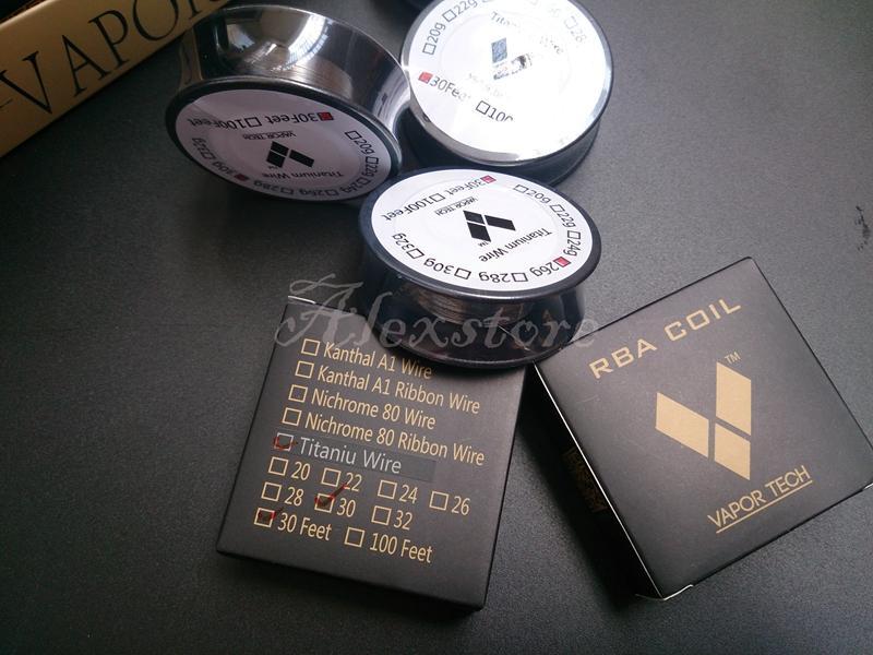 VaporTech Ti Wire Titanium Wire Resistance 30 Feet AWG 26g 28g 30g Gauge Coil For Temp Control TC Box mod RBA RDA retail