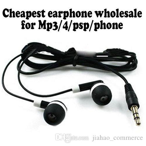 Universale più economico / Nero In-Ear Auricolari Auricolare Smart Phone, Cuffie telefoni cellulari MP3 MP4 3.5mm Audio
