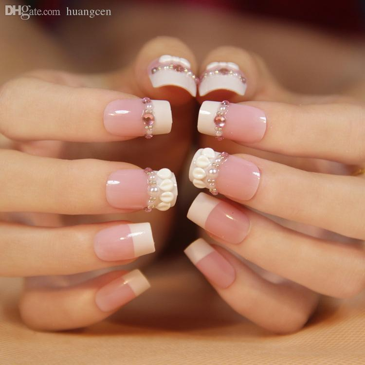 Wholesale Gum Bride Orb Manicure Sweet Vivi Classic Bride Fake Nails ...