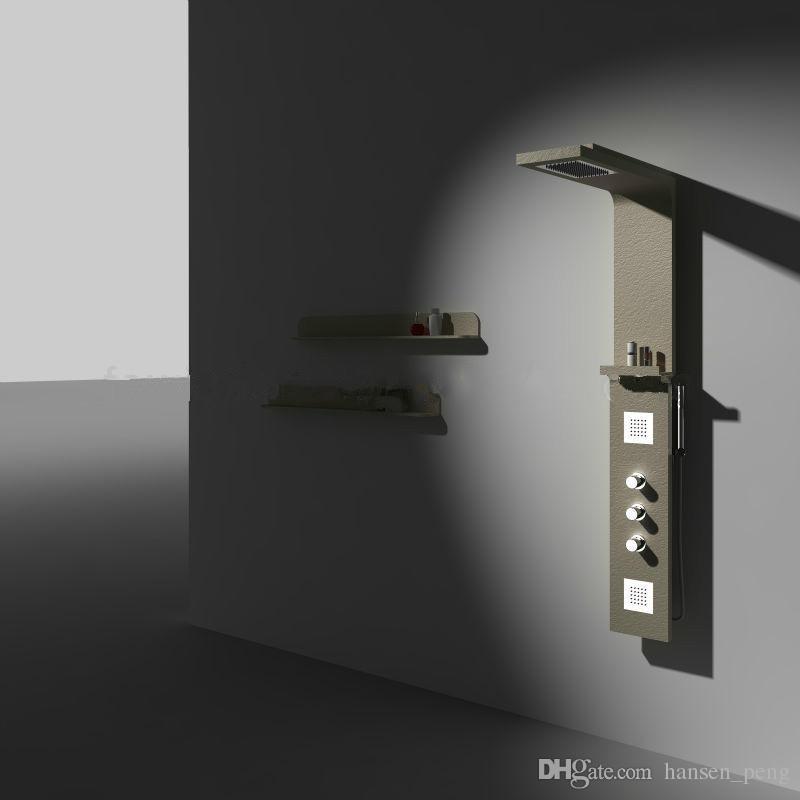 Nieuwe Moderne Cupc Certificaat Solid Surface Douchepaneel Wandmontage Douchekraan Kolom Corian Panel RS0031