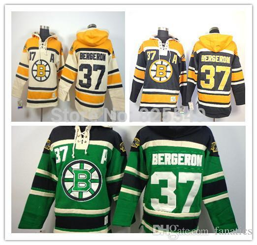 2019 NWT Men S Boston Bruins Hoodies Jerseys  37 Patrice Bergeron Old Time  Hockey Hooded Sweatshirts Stitched Jerseys From Fanatics 582123418
