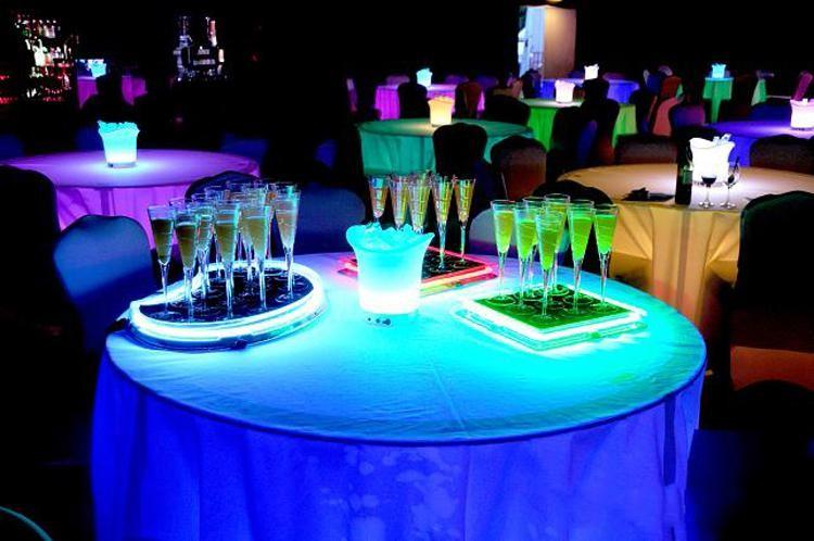 2019 6 8 18cm Liquid Active Plastic Led Champagne Glass