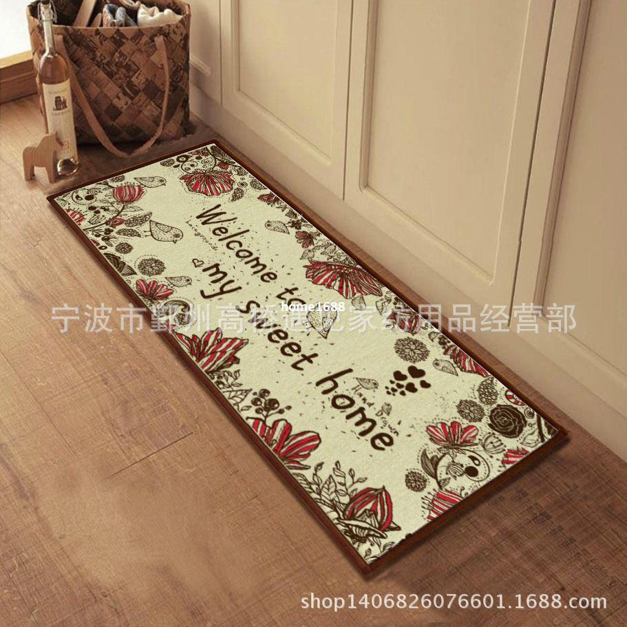 Welcome Mats Kitchen Anti Slip Carpet Decorative Jute