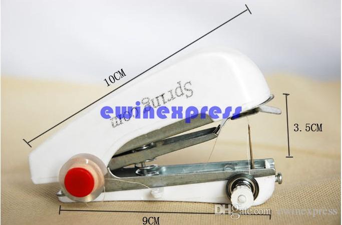 Yeni Çok Fonksiyonlu ev mini manuel dikiş makinesi taşınabilir küçük cep kolu Handy Giysi Kumaş Sartorius dikiş makinesi