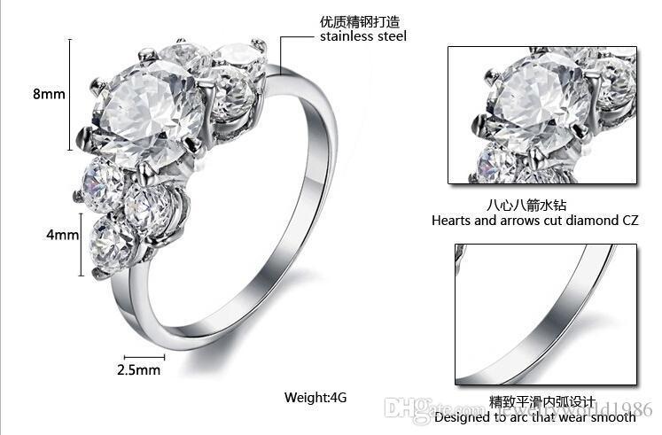 Gratis verzending fijne groothandel - harten en pijlen gesneden diamant CZ Nieuwe eenvoudige super flash strass Mevrouw Ring enkele ring groothandel