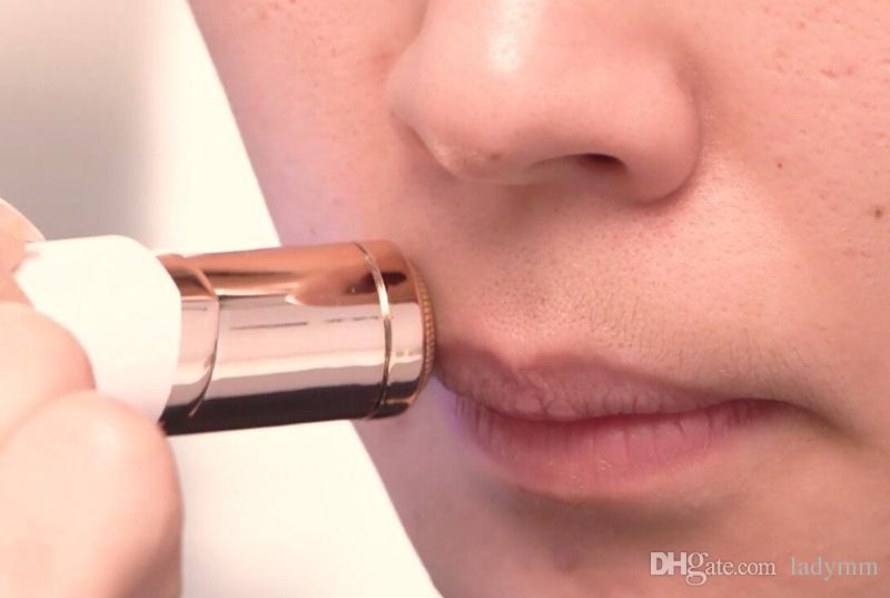 Nueva Eléctrico Mujeres Pintalabios Máquina de Afeitar Razor Depiladora de Cera Máquina de Afeitar Lápiz Labial Afeitar Herramientas DHL Libre gratis