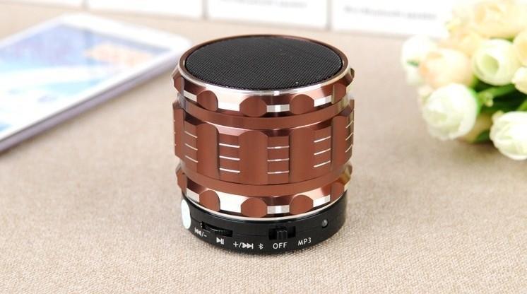 Mini Haut-parleur Bluetooth S28 Métal En Acier Sans Fil Smart Hands Hi fi haut-parleur Avec Radio FM Support Couleurs de La Carte SD Mélangé US05
