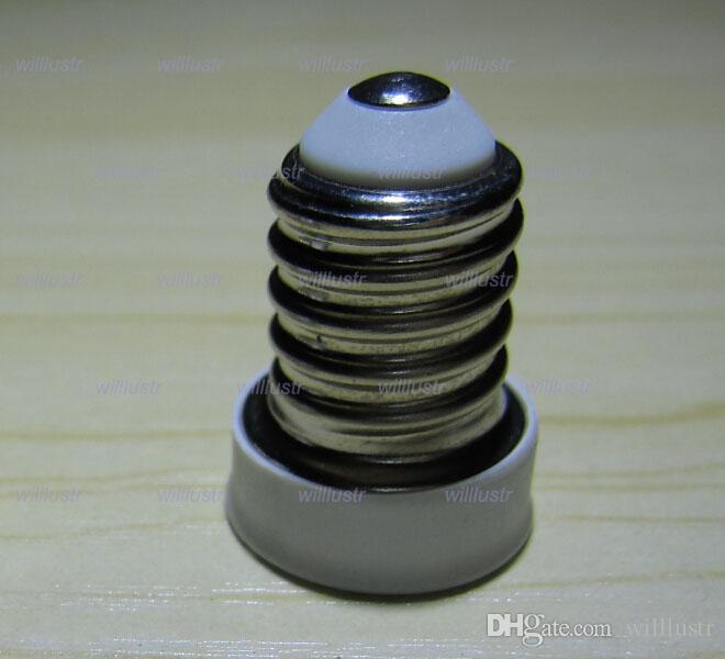 الحرة الشحن E14 إلى E12 مصباح قاعدة محول محول لمبة LED الهالوجين CFL ضوء لمبة مصباح