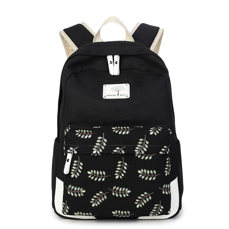 ebb9ce07b9 Printing Backpack Canvas Feminine Backpack Teenage Fashion Backpacks For Teen  Girls Children  S School Bags For Teenagers Mochila Shoulder Bags For Men  Men ...