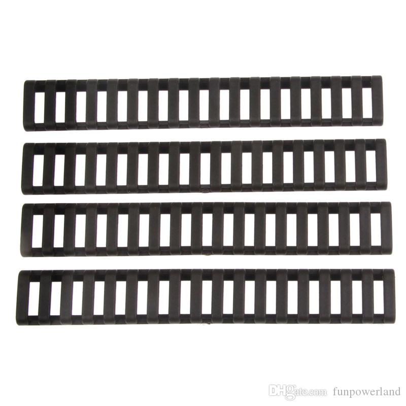 Funpowerland High quality Ladder 18 Slots Low Profile Rail Covers pack Black For Handguard AR15 M4DS9525A