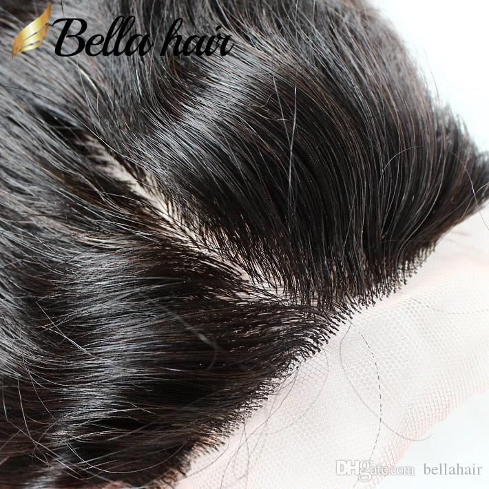 4x4 Seidengrundspitze-Schließung mit Haarbündeln Brasilianischer jungfräser Haarbänder Körperwelle Humanhaar-Schussverlängerung Natürliche Farbe
