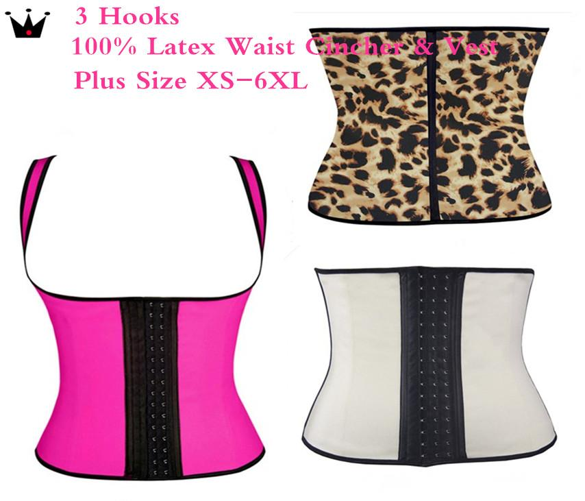 8839e2e48b5af 2019 Plus Size XS 6XL Hot Shapers Body Shapers Waist Trainer Waist Training  Vest Latex Waist Cincher Latex Weight Loss Steel Boned Corsets Women From  ...