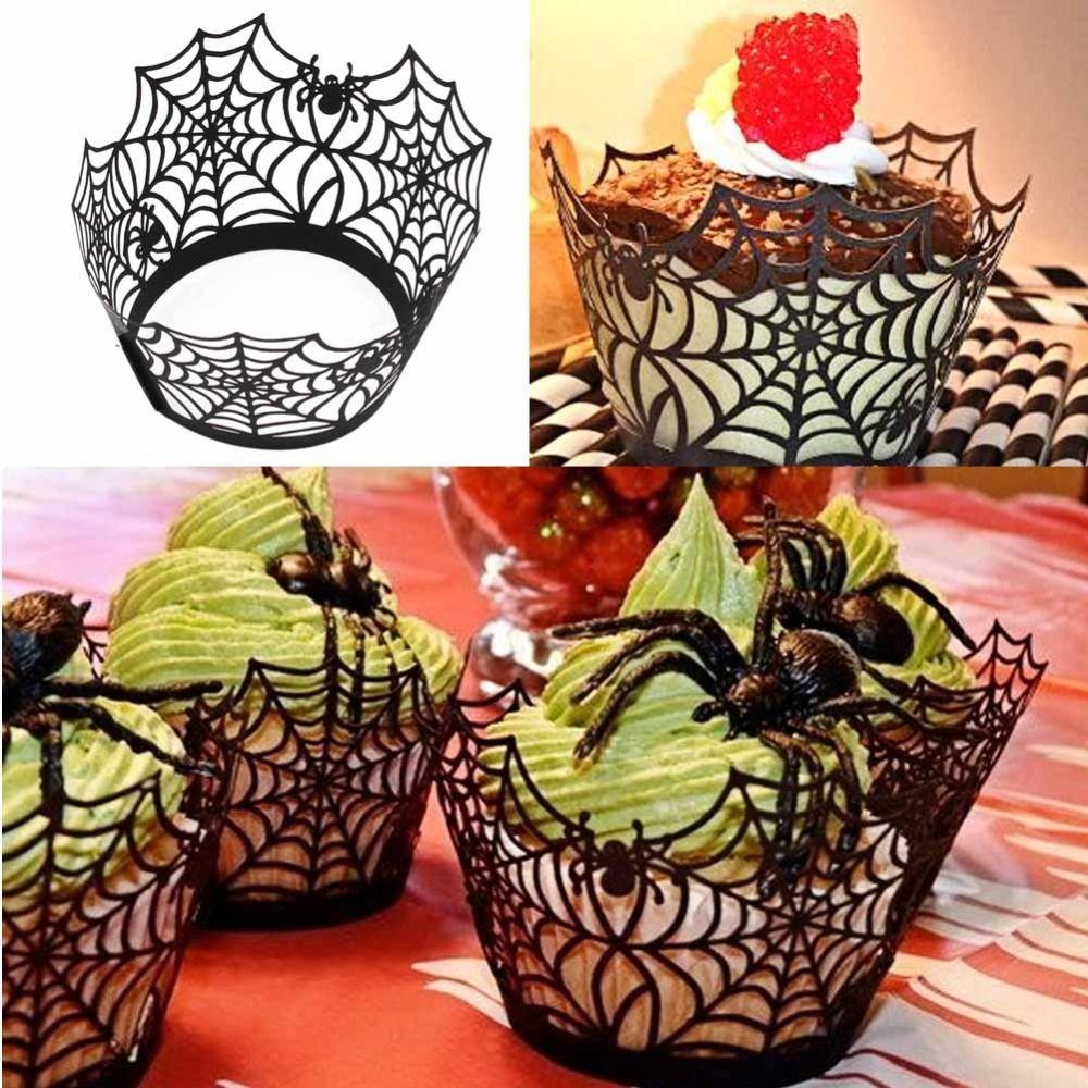 Halloween Cupcake Decorating Ideas Spider Web : Discount Halloween Spiderweb/Witch/Castle Laser Cut ...