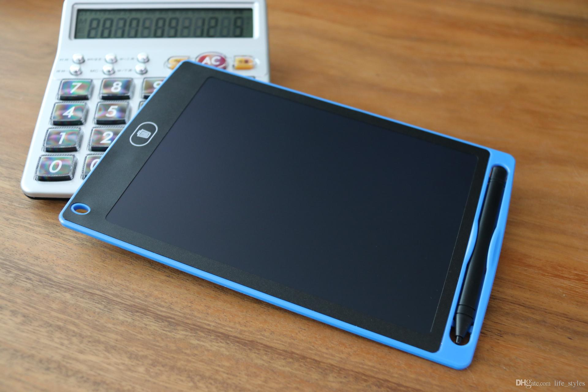 Livraison gratuite 8,5 pouces LCD tablette d'écriture tablette planche à dessin sans papier bloc-notes numérique réécrit Pad pour dessiner note mémo rappeler message
