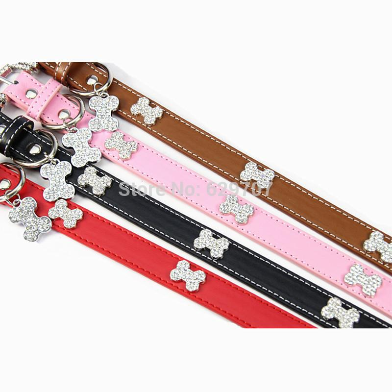 Compre Personalizado Collar Rhinestone Perro Con Colgante Tag ...