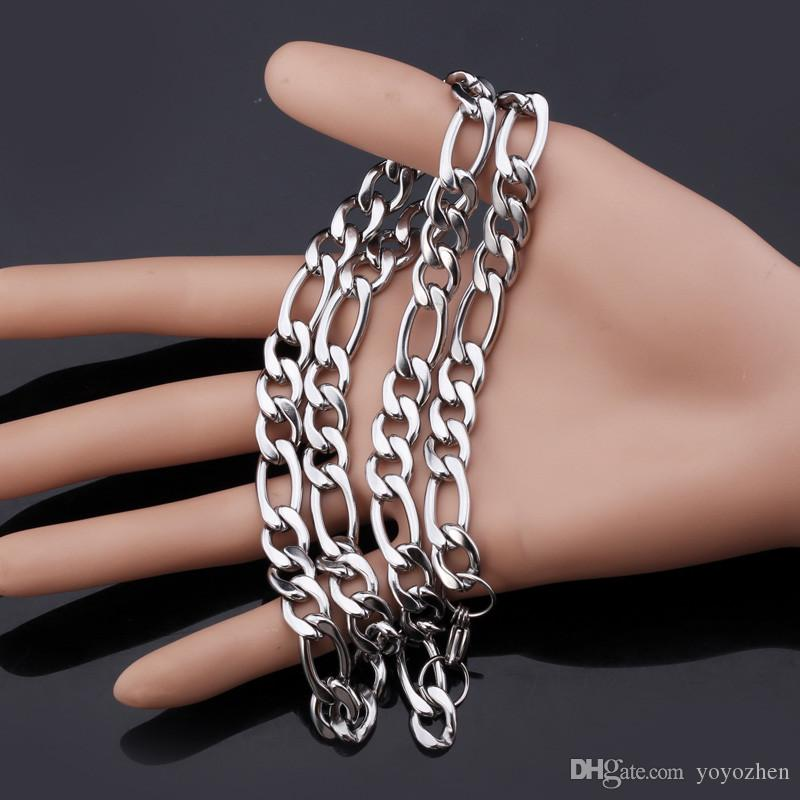 Chunky Figaro Chains Necklace 316L Stainless Steel Jewelry For Men Quality Cool Jewellery NEVER FADE 9MM 22inch YLS201N