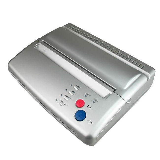 Impresora de la máquina de transferencia de tatuajes, dibujo, plantilla térmica, copiadora de papel para el papel de transferencia de tatuajes, color negro y plata para profesionales