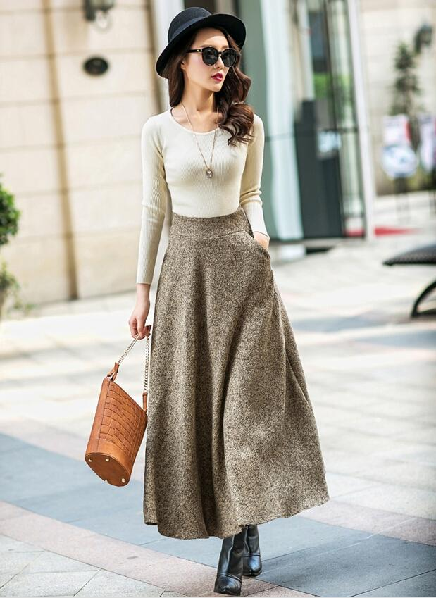 2020 spring autumn women long skirts big girl fashion