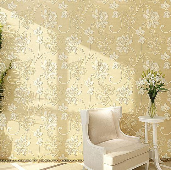 Home Wallpaper Texture modern romantic floral 3d room wallpaper home decor embroidery