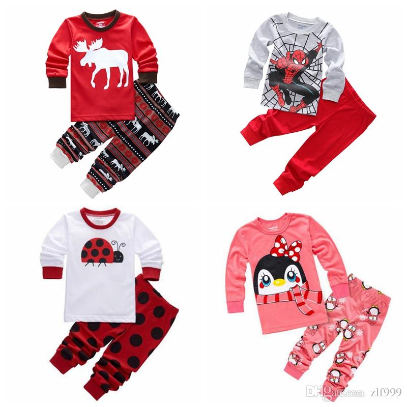 c232163c2e5a 2018 Boys Pijamas Kids Set Children s Pyjamas Clothing Sets Girls ...