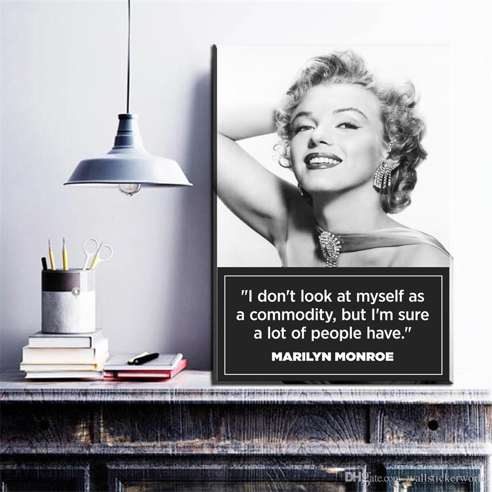 1 Pcs Original Marilyn Monroe Portrait Canvas Art Oil Painting Modern Home Decor Wall Art Poster Pictures For Kid Room No Frame