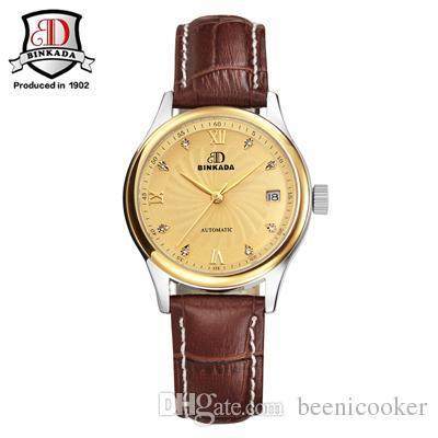 134d55fd36f Brand BINKADA Watch Women Mechanical Watches Girls Watch Luxury ...