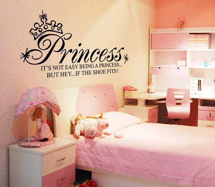 Cute Words Not Easy Being Princess Wall Stickers Decor Pvcl Wall Decal  Quote Inspirational Bedroom Wallpaper With Wall Art Baby Nursery Wall  Stickers For ...