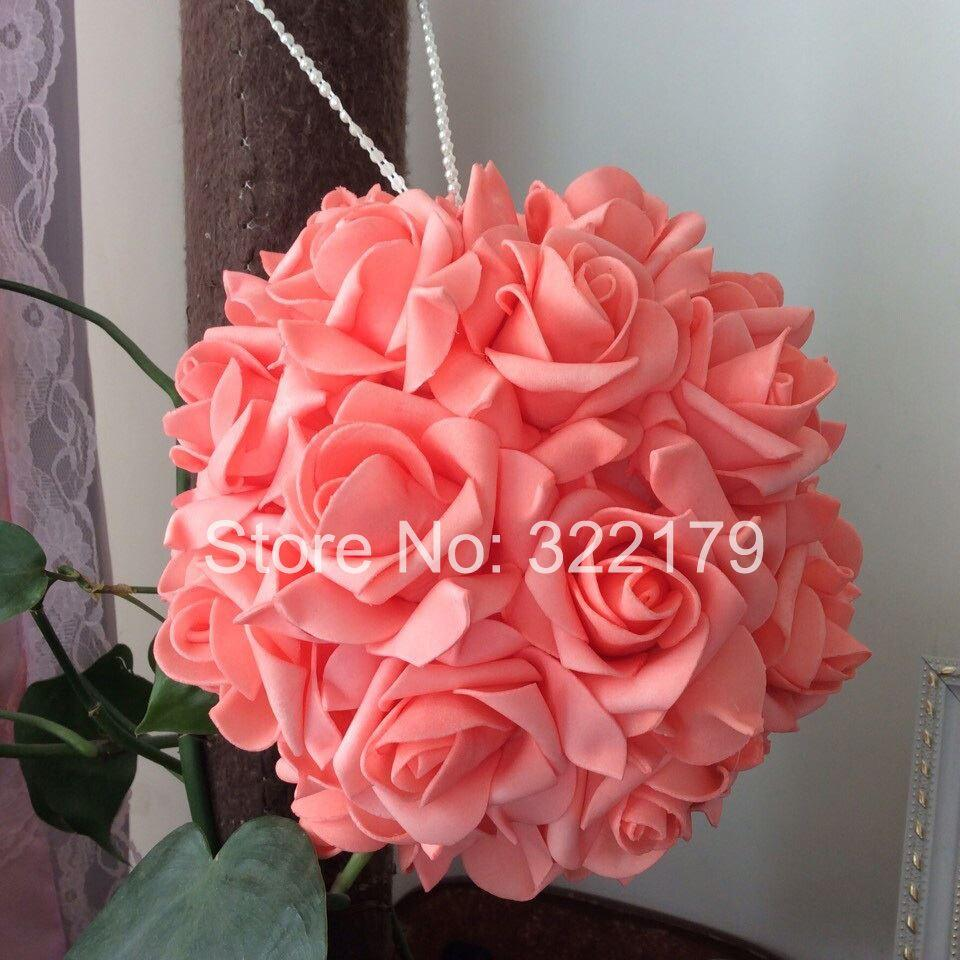 2018 coral wedding flowers foam roses for wedding decorations coral see larger image junglespirit Images