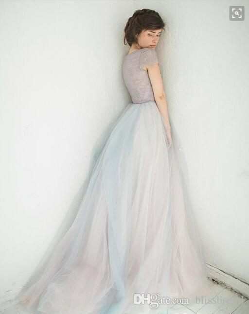 Мягкий тюль Фея сад вечерние платья 2016 кружева платья партии V шеи укупоренные рукава пухлые линии на заказ платья выпускного вечера