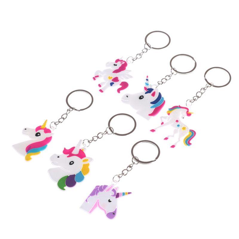 hot sale Unicorn Keychain Keyring Cellphone Charms Handbag Pendant Kids Gift Toys Phone Decoration Accessory Horse Key Ring wholesale