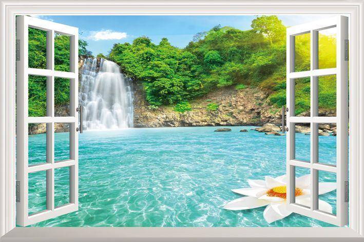 Diy Window Scenery Outside Fake Windows Sticker 70 46cm