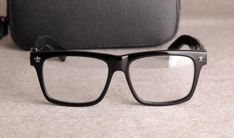Новые оправы для очков Chrome Очковые оправы для очков для мужчин и женщин Близорукость Марка Дизайнер Очки с прозрачными линзами С оригинальным чехлом 08