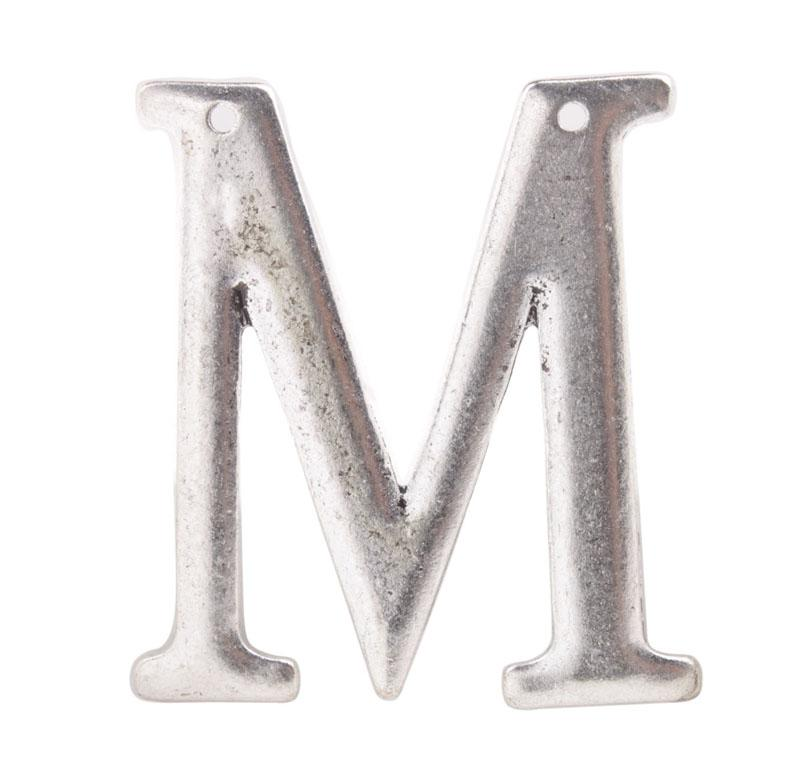 10 stks mode antiqued zilveren grote m deurplate hangers # 92277