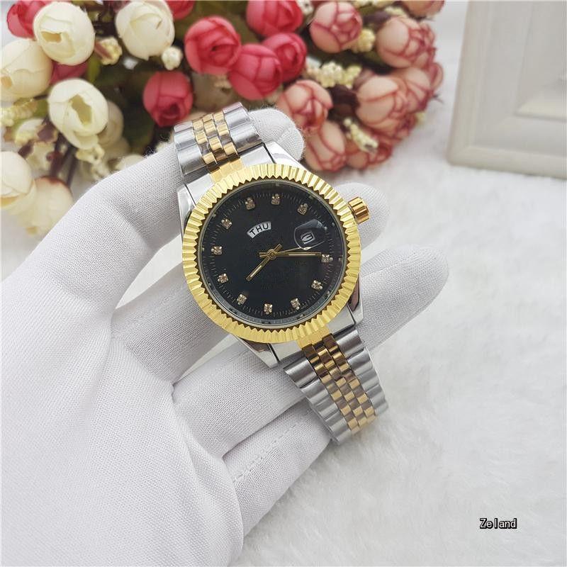 Deluxe Double Calendar In 16233 Quartz Watch Brand Fashion