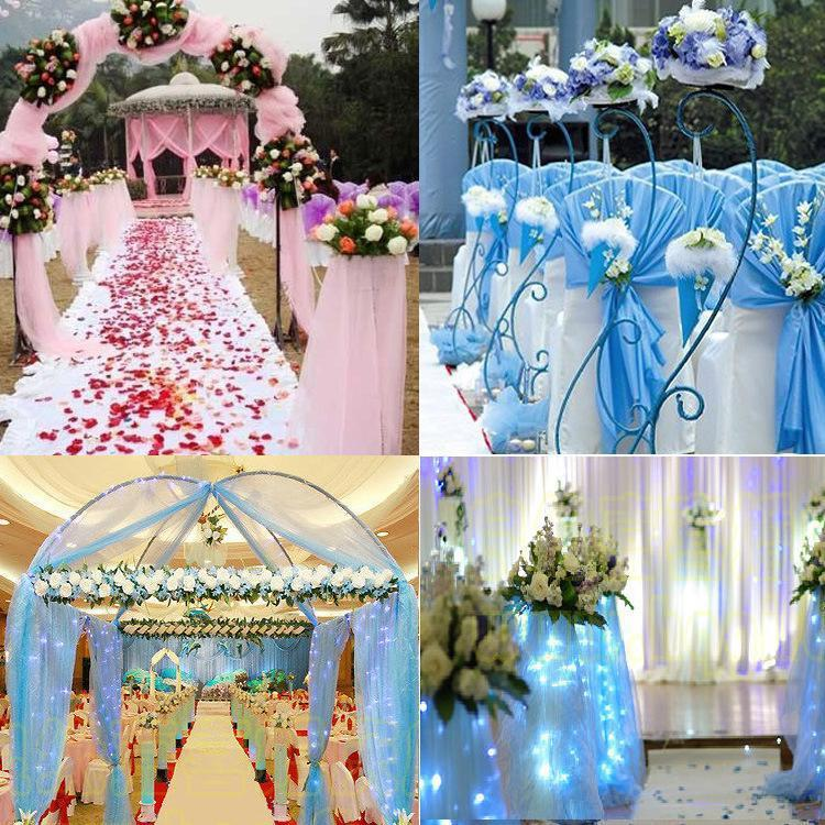 Wedding Decorations Cheap: Wedding Organza Tulle Centerpieces Sashes Yarn Soft Fabric