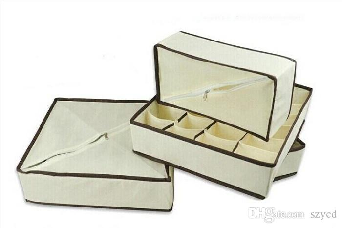 4 pçs / set Meias de Armazenamento Em Casa Underwear Bra Tie Caixas De Armazenamento Organizador Do Armário Divisores de Gaveta